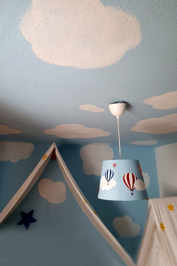 Kinderzimmer Wolken